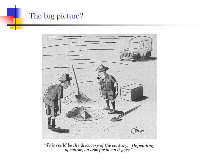 The big picture?