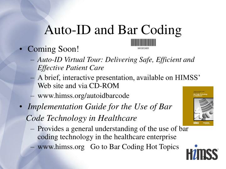 Auto-ID and Bar Coding