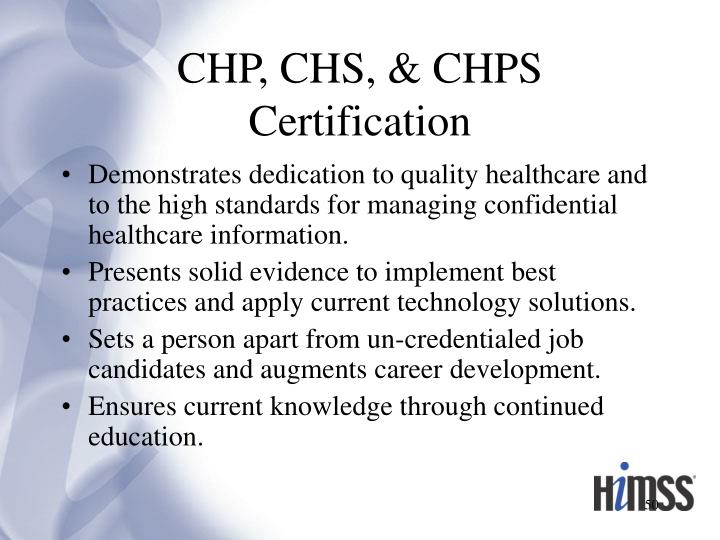 CHP, CHS, & CHPS Certification