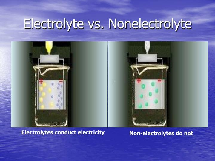 Electrolyte vs.