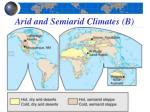 arid and semiarid climates b2