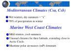 mediterranean climates csa csb