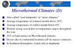 microthermal climates d