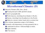 microthermal climates d2