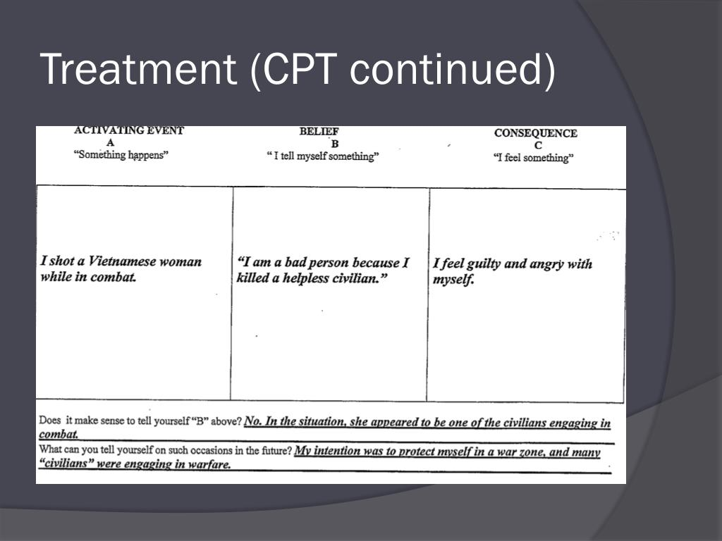 Ppt Cognitive Processing Therapy For The Treatment Of Trauma Powerpoint Presentation Id 1834797