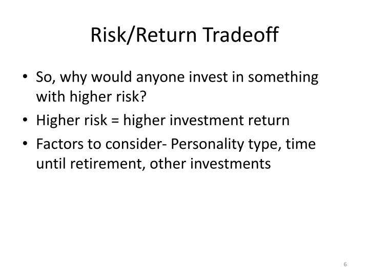 Risk/Return Tradeoff