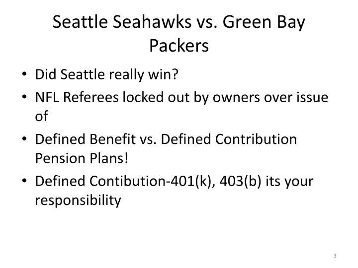 Seattle seahawks vs green bay packers