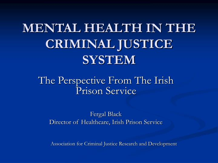 mental health issues in prison