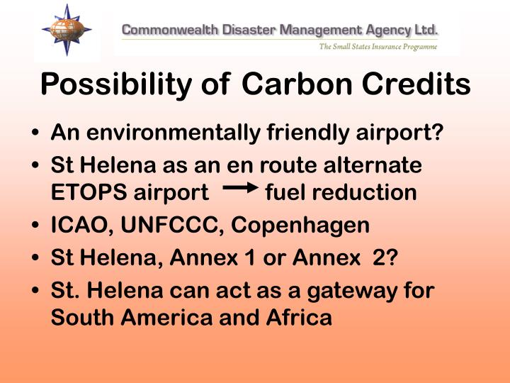 Possibility of Carbon Credits