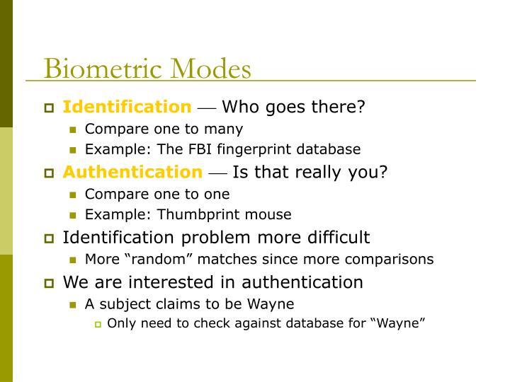 Biometric Modes