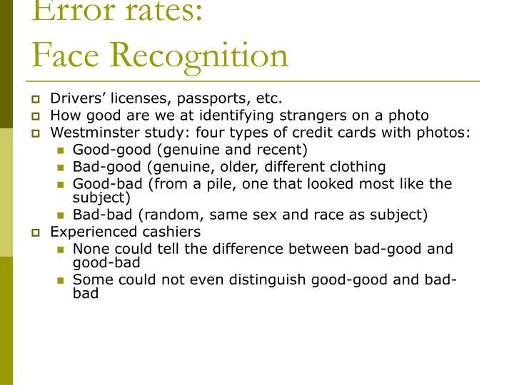 Error rates: