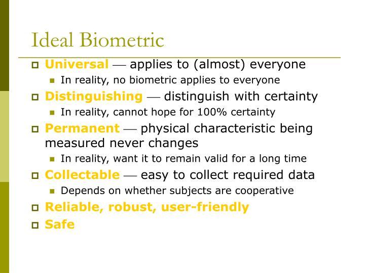 Ideal Biometric