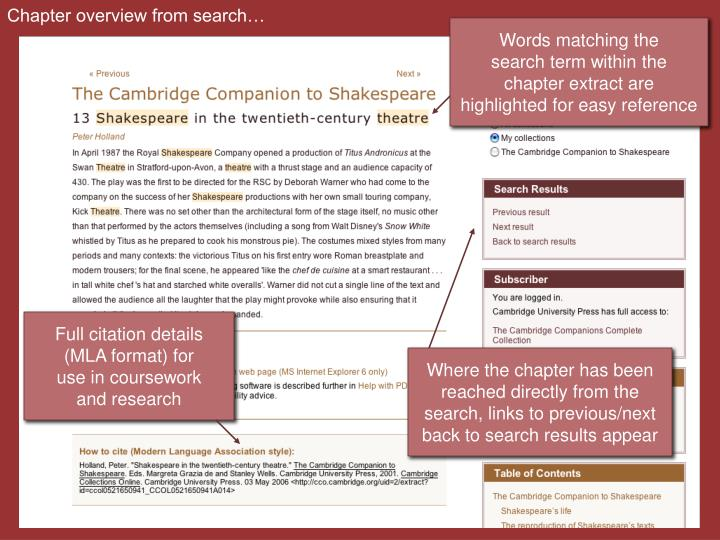 Chapter overview from search…