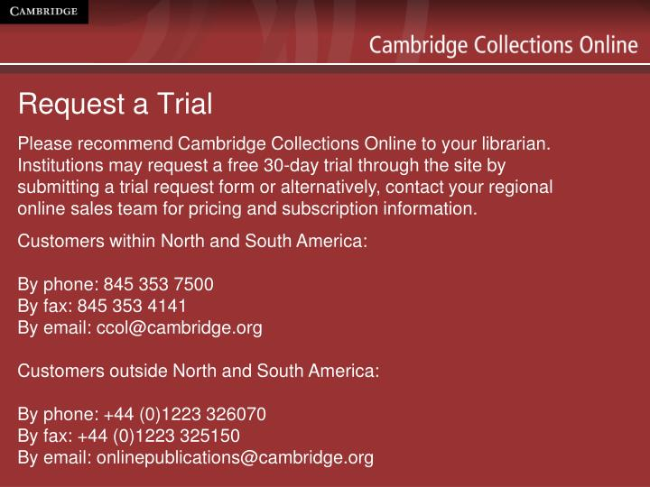 Request a Trial