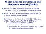 global influenza surveillance and response network gisrs