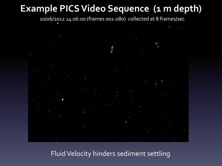 Example PICS Video Sequence  (1 m depth)