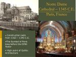 notre dame cathedral 1345 c e paris france