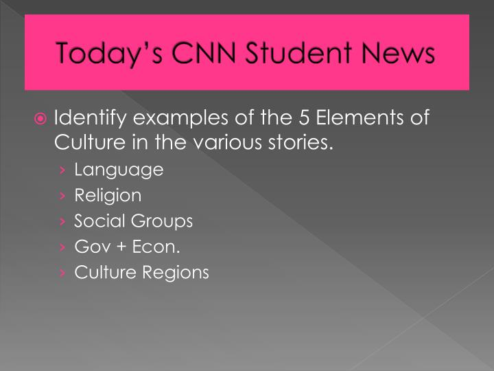 Today's CNN Student News
