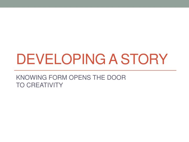 developing a story n.