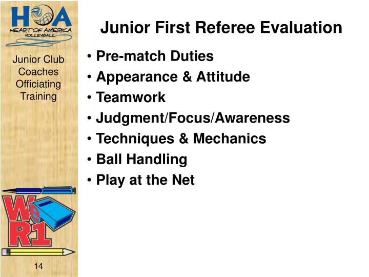 Junior First