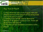 united we play www mysl ca17