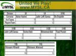 united we play www mysl ca3
