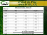 united we play www mysl ca5