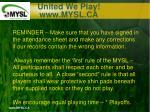 united we play www mysl ca9
