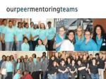 our peer mentoring teams