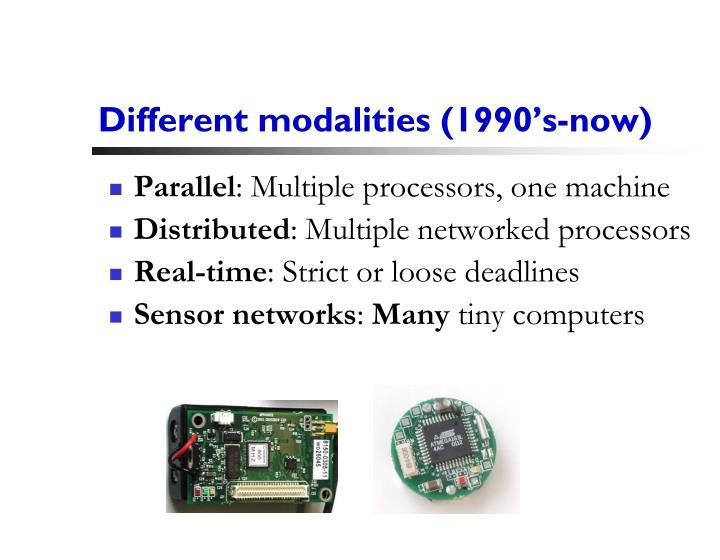 Different modalities