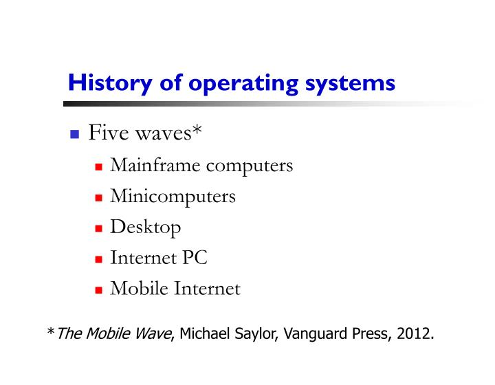 History of operating systems