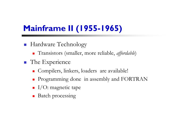 Mainframe II