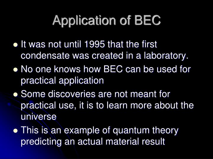 Ppt Bose Einstein Condensate Another State Of Mater Powerpoint
