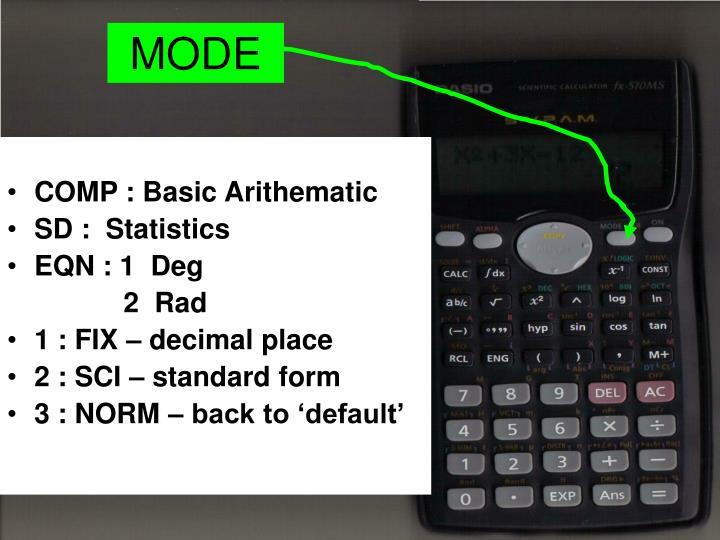 Ppt Using Scientific Calculator Powerpoint Presentation Id1835834