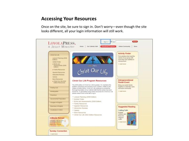 Accessing your resources1