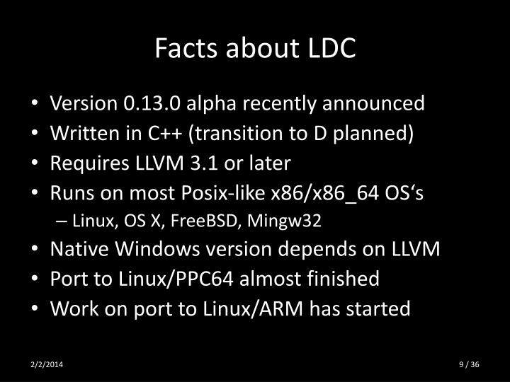 Facts about LDC