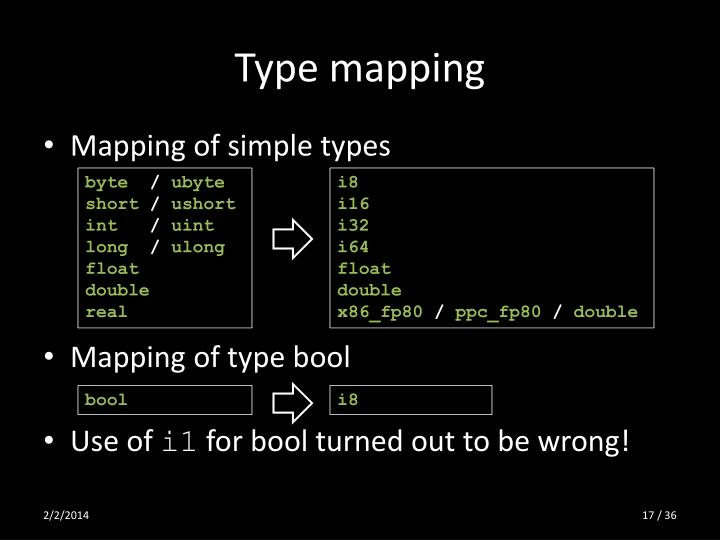 Type mapping