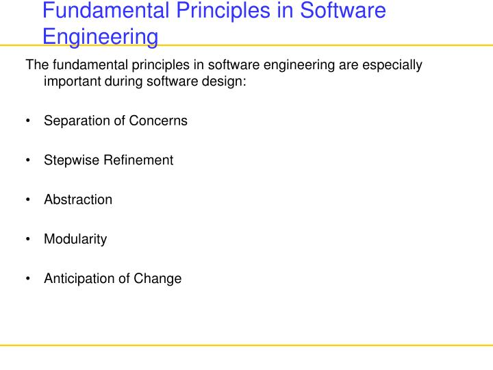 action plan principles of software engineering Action plans for implementation of total productive maintenance shamsuddin ahmed and masjuki hj hassan faculty of engineering, university of malaya, malaysia  a well-conceived action plan is a pre-requisite to unearth those potential  good maintenance can be ensured by incorporating the philosophy and principles of total productive.