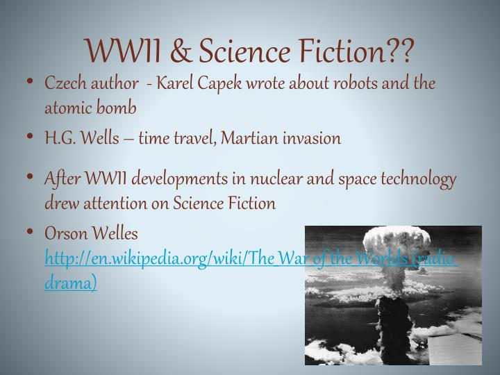 WWII & Science Fiction??