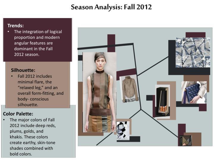 year 2012 seasonal analysis .