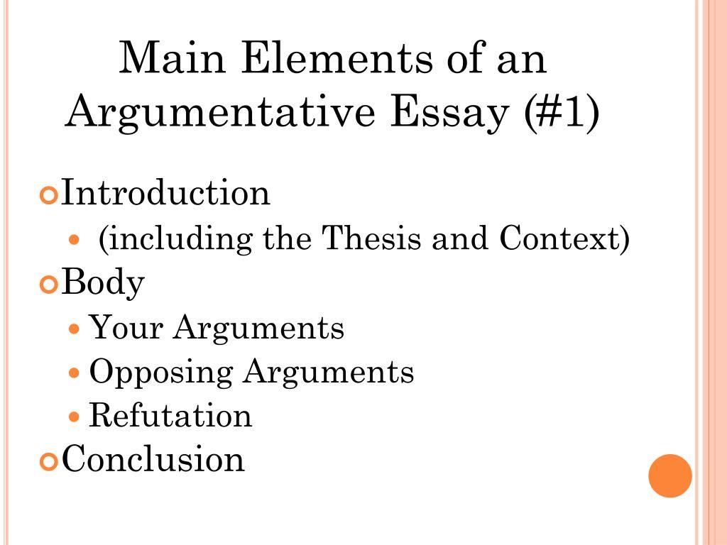 ppt - argumentative essay powerpoint presentation