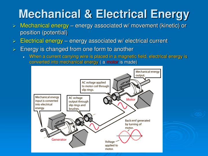 Mechanical electrical energy