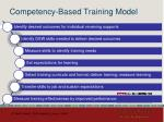 competency based training model