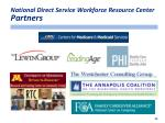 national direct service workforce resource center partners