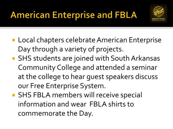 American Enterprise and FBLA