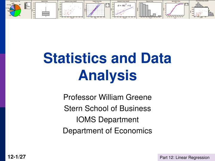 statistics and data analysis n.