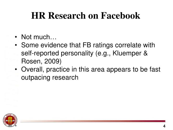 HR Research on Facebook