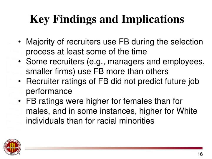 Key Findings and Implications