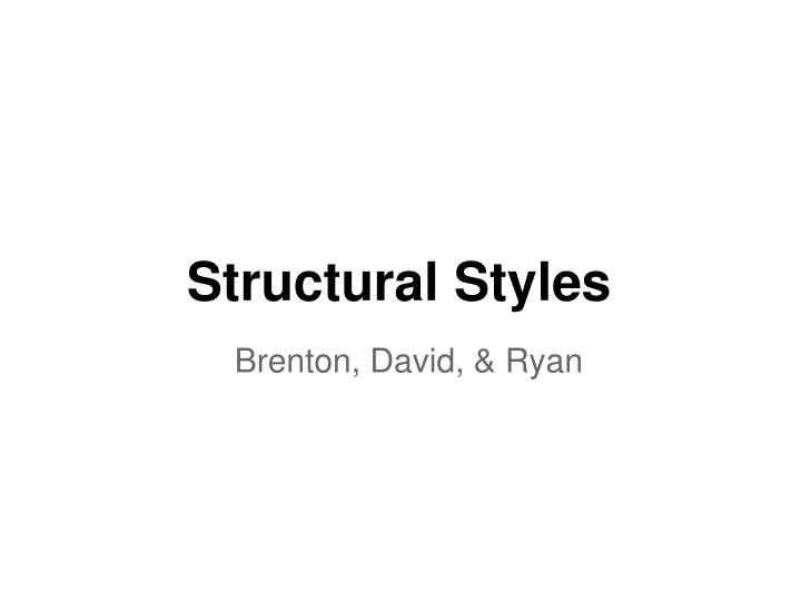 structural styles n.