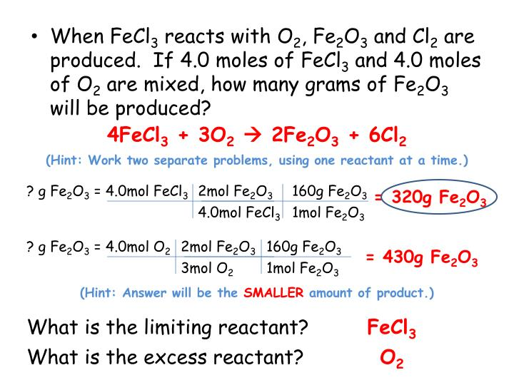 Ppt Stoichiometry With A Twist Powerpoint Presentation Id1836706. If 40 Moles Of Fecl3 And O2 Are Mixed How Many Grams Fe2o3 Will Be Produced. Worksheet. Worksheet Stoichiometry Problems With A Twist At Clickcart.co